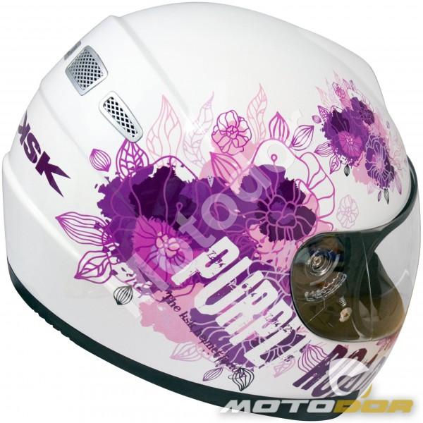 Casco Moto Integral Mujer Purple Ksk Motodor